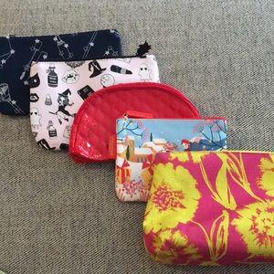 Handbags - Ipsy, L'Occitane, and Clinic makeup bags